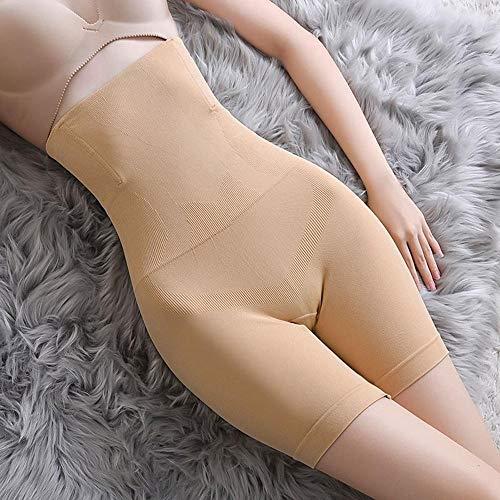 AOXQ 2 Mutandine a Vita Alta da Donna Senza Cuciture Pantaloncini Corpo Modellante Intimo Modellante-2 Beige_XXXL