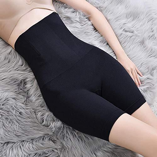 AOXQ Mutandine a Vita Alta da Donna Senza Cuciture Pantaloncini Mutandine Che modellano Il Corpo Intimo Intimo Body-2 Black_XXXL