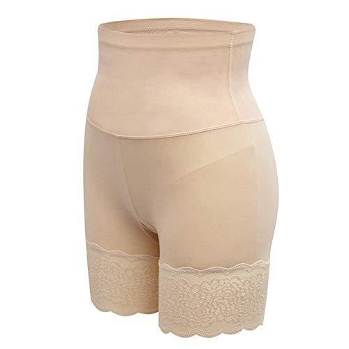 AOXQ Pantaloni Modellanti a Vita Alta Pantaloncini Aderenti in Vita Modellanti per Fianchi-Beige_L-XL (Vita 80-100CM)