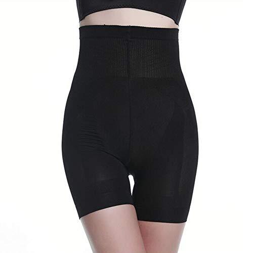 Donna Modellante Intimo Elastiche Vita Alta Shapewear Guaina Contenitiva Pantaloncini Seamless Body Shaper Dimagrante Mutande,Nero,M