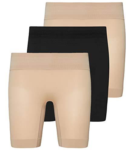 Jockey® Skimmies® - Confezione Multipla di Pantaloncini rinfrescanti Black/Beige/Beige M