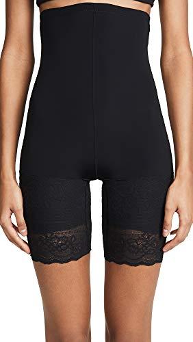 Natori Plush: High Waist Thigh Shaper Pantaloncino Modellante, Nero, L Donna