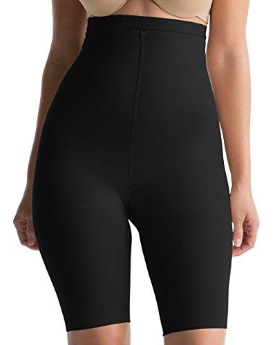 Spanx - Mutandine da donna con potere superiore per controllo di pancia, fondo e cosce, in nylon ed elastan, 409 Nero XL