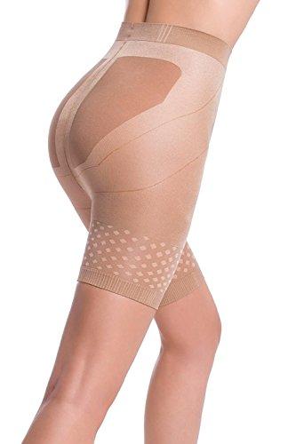 TESPOL Pantaloncini Modellanti Donna Made in Italy, Pantaloncino Carne, M (44)