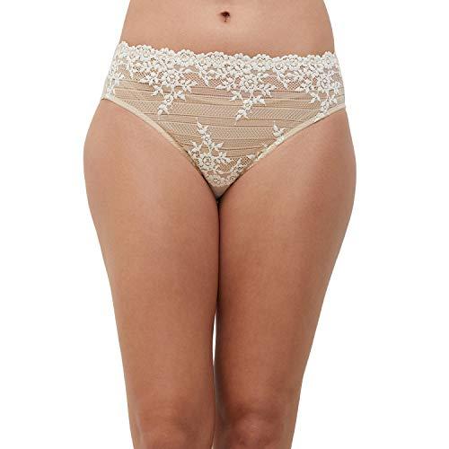 Wacoal Embrace Lace Culotte Slip, Beige(Beige (Nude), XL Donna