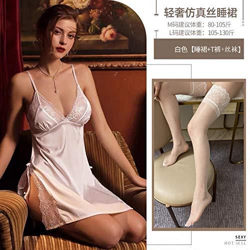 GREQ Abbigliamento Erotico Lingerie Sexy Pigiama Camicia da Notte Vestito Sexy Senza Tentazione Abbigliamento in Pizzo Donna