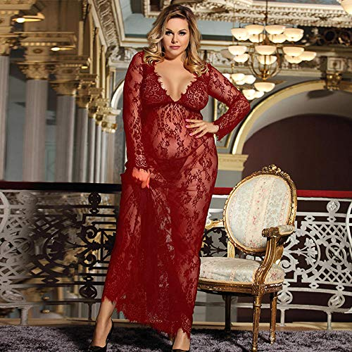 GREQ Abbigliamento Erotico Pigiama da Donna Sexy in Pizzo Sexy di Grandi Dimensioni