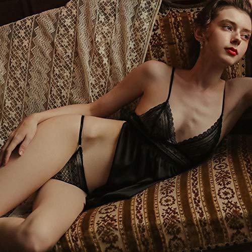 GREQ Completini Intimi Sexy Abiti Interni Sexy Pigiama Prospettiva Pizzo Tentazione Set Camicia da Notte Gratis