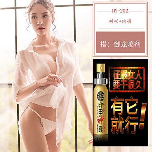 GREQ Lingerie & Intimo da Donna Sexy Lingerie Aperta File Sexy Camicia Bianca Trasparente Pigiama Trasparente Tentazione Vestito
