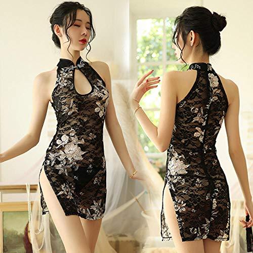 GREQ Lingerie & Intimo da Donna Sexy Lingerie Cheongsam Uniforme Tentazione Abiti da Notte Vestito Sexy da Donna