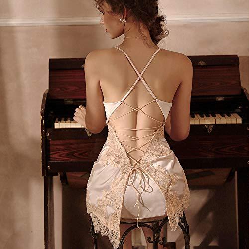 GREQ Lingerie & Intimo da Donna Tentazione di Lingerie Sexy Sexy Pigiama da Notte con Gonna da Notte Libera