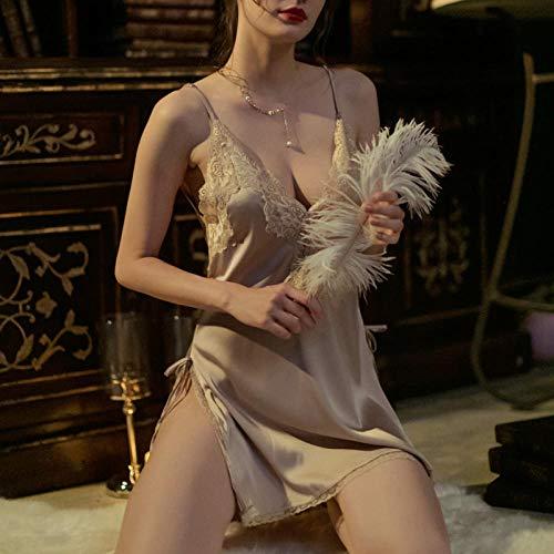 GREQ Lingerie & Intimo da Donna Tentazione di Petto Piatto con Cinturino all'Americana Sexy da Donna con Gonna in Pigiama di Lingerie Sexy