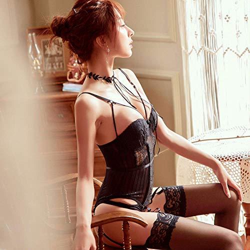 GREQ Érotisme, Sexe et sensualité Lingerie Sexy Pyjama Sexy Costume Tentation Uniforme fichier Ouvert Dentelle Transparente
