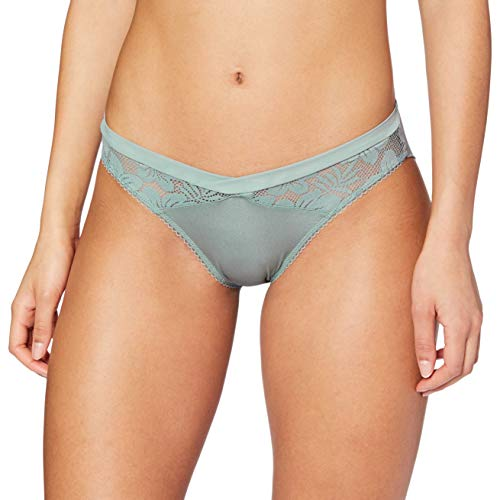 LOVABLE Rephined Lace Intimo, Verde Eucalipto, M Donna