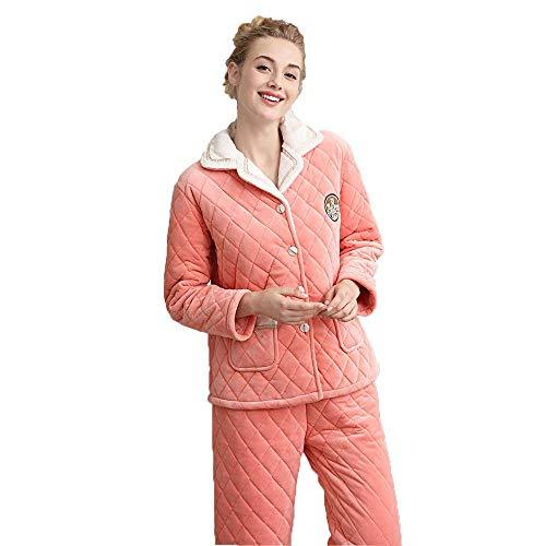 Nosson, set di pigiami, a maniche lunghe, spesso e caldo cardigan in pile con scollo a V, abbigliamento a maglia, abbigliamento casual