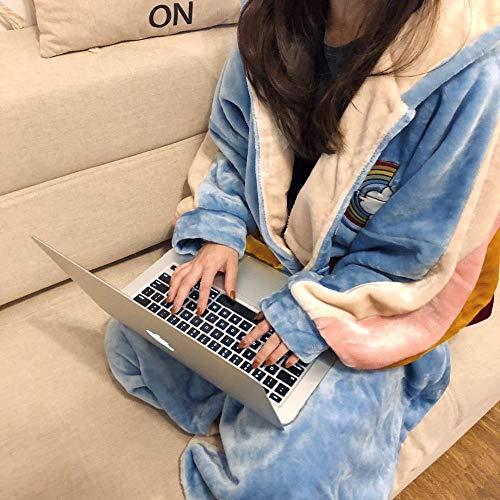 Pigiama e pigiama invernale donne che dormono versione coreana di spessore corallo pile lungo accappatoio home service-160 (M)