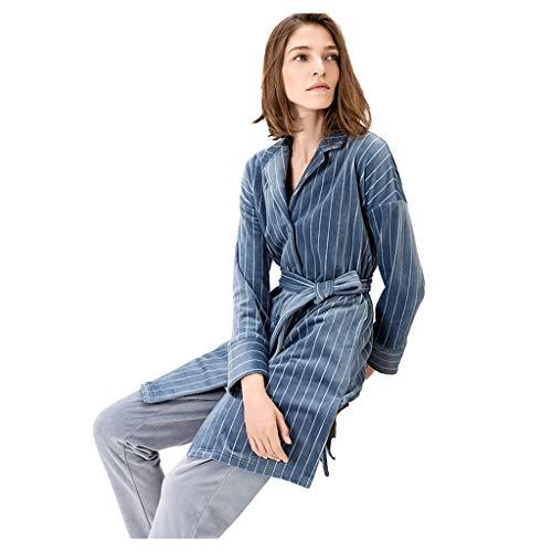 Pigiama in Velluto Color Corallo Abbigliamento for La Casa Autunnale E Invernale da Donna Set di Pigiami Imbottiti Caldo Abbigliamento Casual (Color : Blue, Size : XXL)