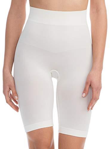 Farmacell Bodyshaper 603B (Avorio, L/XL) Pantaloncino Short Contenitivo e Modellante con pancera Fibra NILIT Breeze Leggera e rinfrescante