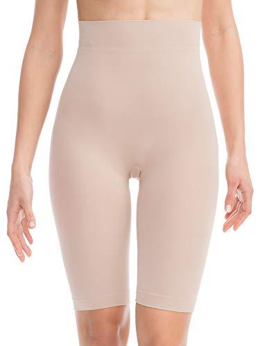 Farmacell Bodyshaper 603B (Cipria, XXL) Pantaloncino Short Contenitivo e Modellante con pancera Fibra NILIT Breeze Leggera e rinfrescante