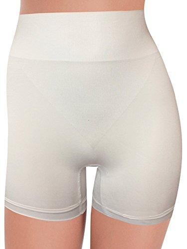 Guaina Pantaloncino Seamless a Gamba Corta G3007 Senza Cuciture - Contenitiva e Modellante Azione e Riducente su Pancia e Gambe, Posteriore Anatomico Solleva i Glutei per un effetto Push-Up