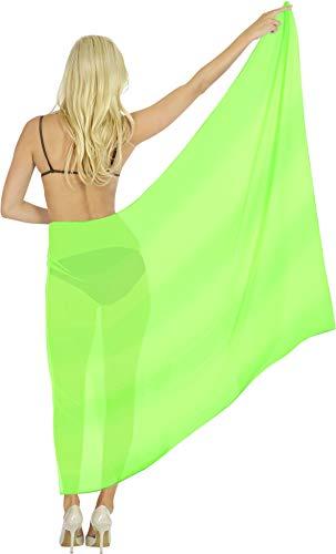 """LA LEELA impacco Pareo Costume da Bagno Coprire Sarong per Le Donne Verde_Y779 72""""X39"""""""