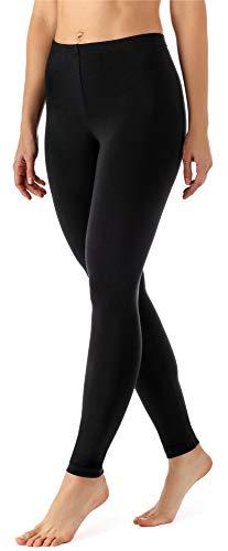 Merry Style Leggings Lunghi Pantaloni Donna MS10-143 (Nero, L)