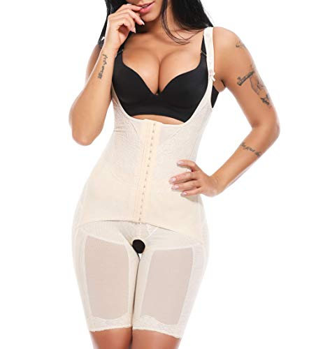 MISS MOLY Donne Body Shaper Guaina Contenitiva e Modellante della Coscia Reducer 15X3 Hook Dimagrante Shapewear Corsetto