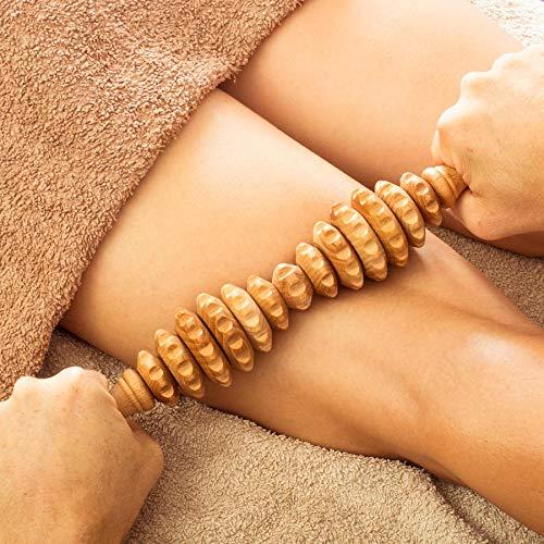 Tuuli Accessories Anti Cellulite Rullo Massaggiatore Massaggio Anticellulite Maderoterapia Legno 40 cm