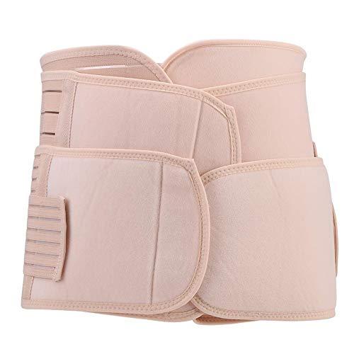 Zerodis 3-in-1 Belly Band postnatale, Post-Partum Belly Wrap Belt Support Cintura Addominale Post Gravidanza Recupero Cintura Dimagrante Corpo Shapewear per Le Donne(L)