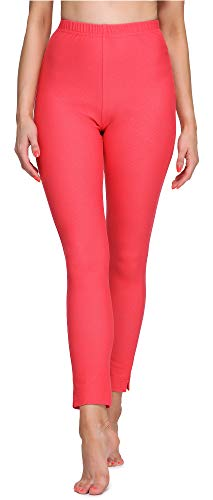 Merry Style Leggings Lunghi Pantaloni 7/8 Donna MS10-288(Rosso, XXL)