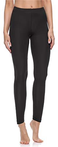 Merry Style Leggings Lunghi Pantaloni Donna MS10-198 (Nero, 5XL)