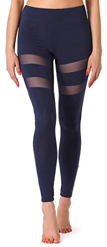 Merry Style Leggings Lunghi Pantaloni Donna MS10-232 (Blu Scuro, XL)