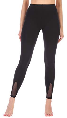 Merry Style Leggings Lunghi Pantaloni Donna MS10-312(Nero,XL)