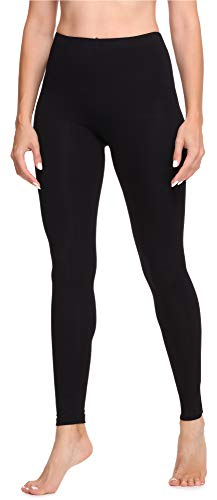 Merry Style Leggings Lunghi Pantaloni Donna MS10-346 (Nero, XS)