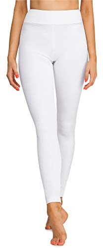 Merry Style Leggings Lunghi Pantaloni Sport Donna MS10-242(Bianco, XXL)