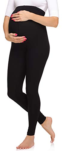 Merry Style Leggings Premaman Lunghi Donna MS10-297 (Nero, 4XL)