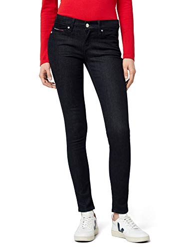 Tommy Jeans Donna Mid Rise Nora Jeans, New Rinse Stretch 911, W32/L34